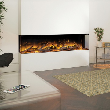 Flamerite Glazer 1500 3 Sided Electric Fire Flames Co Uk